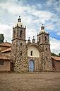 South America, Peru, View of a little colonial Church in Cusco - KRPF000685
