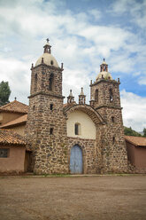 South America, Peru, View of a little colonial Church in Cusco - KRPF000685