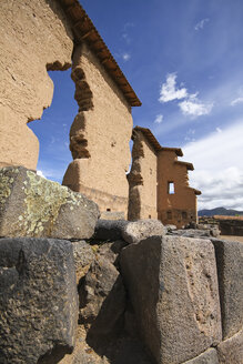 South America, Raqch'i, View of the Temple of Wiracocha - KRPF000689