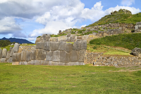 South Amercia, View of the ruins of Saksaywaman in Cusco - KRPF000695