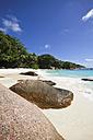 Seychelles, Praslin Island, View of the beach at Anse Lazio - KRPF000710