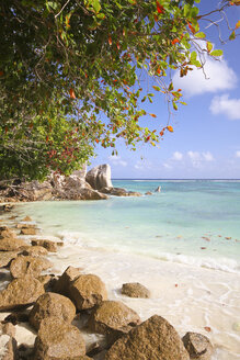Seychelles, La Digue Island, Anse Source D'Argent, Beach - KRPF000729