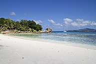 Seychelles, View of the Anse Severe Beach at La Digue Island - KRPF000736