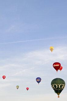Germany, Hamburg, Hot Air Balloons at 100 year festival of the Hamburg Airport - KRP000788