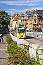 Germany, Baden-Wurttenberg, Freiburg, tramway in the city - KRP000820