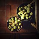 Germany, Baden-Wurttemberg, Tubingen, Apples in bucket - LVF001769