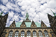 Germany, Hamburg, close-up of town hall - KRPF000947