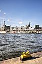 Germany, Hamburg, Port of Hamburg, Bollard - KRPF000953