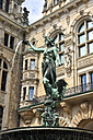 Germany, Hamburg, fountain with sculpture at town hall - KRPF000955