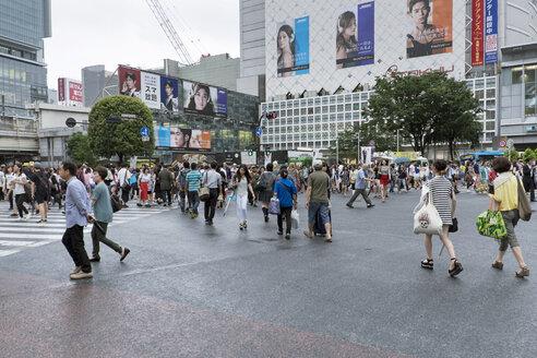 Japan, Tokyo, View of pedestrian crossing - HL000680