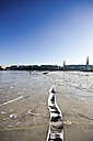 Germany, Hamburg, View of the frozen Binnenalster Lake - KRPF000830