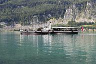 Austria, Salzkammergut, Salzburg State, View of paddlesteamer Kaiser Franz Josef at Wolfgangsee Lake - SIE005763