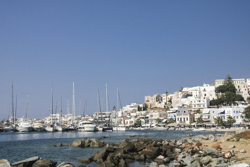Greece, Cyclades, Naxos City and harbour - KRPF000912