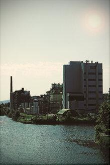 Germany, North Rhine-Westphalia, Minden, Chemical plant at harbour Minden - HOH000935