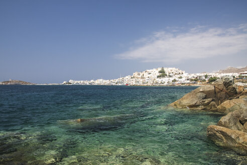Greece, Cyclades, Naxos City and harbour - KRPF000864