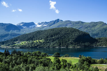 Norway, Alesund, landscape with fjord - NGF000212