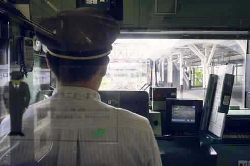Japan, Nikko, train driver in a train - FL000478