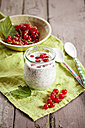 Chia coconut pudding with redcurrants - SBDF001188