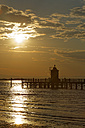 Italy, Friuli-Venezia Giulia, Province of Udine, Lignano Sabbiadoro, Old Lighthouse Faro at sunset - GFF000539