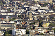 Germany, Aachen, aerial view of the city center with cathedral - HLF000637