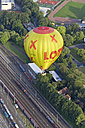 Germany, Aachen, air balloon over freight yard - HL000639