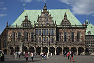 Germany, Bremen, Bremen Town Hall at market square - OLE000028