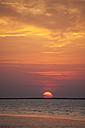 Germany, Lower Saxony, Sunset near Blexen at Weser river - OLEF000032