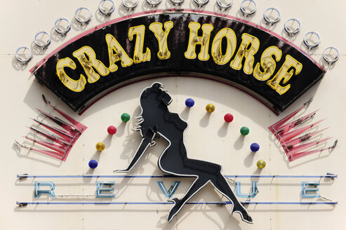 Australia, South Australia, Adelaide, Crazy Horse sign, a revue with adult entertainment - MIZ000566