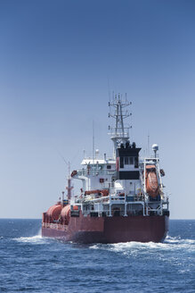 Spain, Andalusia, Tarifa, Strait of Gibraltar, Cargo ship - KB000105