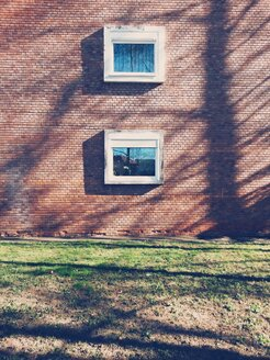 Two windows at brick house - BRF000594