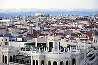 Spain, Madrid, historic city center, view over the roofs of Chueca and Malasana - MIZ000576