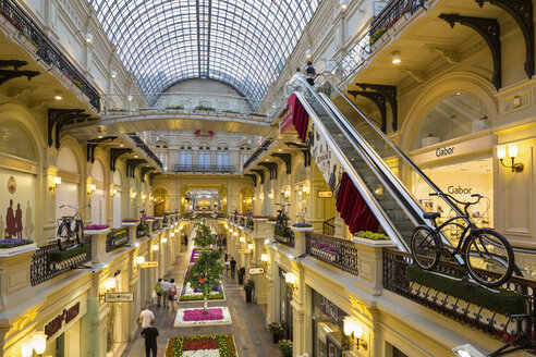 Russia, Central Russia, Moscow, Red Square, GUM department store, interior view - FO006812