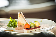 Plate of Foie gras with toast - KM001342