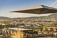 Morocco, Fes, view to the city from terrace of a hotel - KM001380