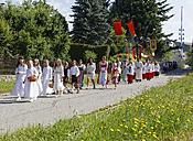 Germany, Bavaria, Babensham, Corpus Christi procession - SIE005844