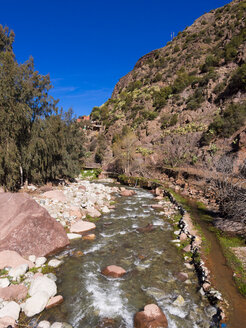 Morocco, Marrakesh-Tensift-El Haouz, Atlas Mountains, Ourika Valley, Tighfert, Oued Ourika river - AMF002712