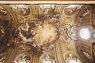 Italy, Rome, Chiesa Del Gesu, ceiling fresco - GW003278