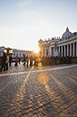 Italy, Rome, people waiting in queue on St. Peter's Square at New Year 2014 - GW003300