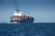 Spain, Andalusia, Tarifa, Cargo ship - KB000142