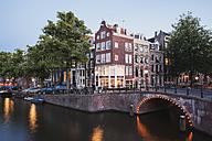 Netherlands, Holland, Amsterdam, Prinsen canal, Leidse canal - GW003129