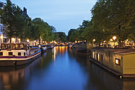 Netherlands, Holland, Amsterdam, Prinsen canal, Houseboats and ships - GW003134