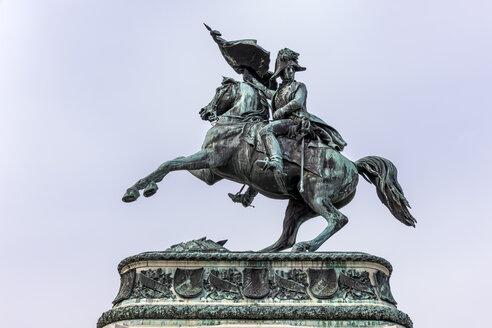 Austria, Vienna, Equestrian statue of archduke Karl - EJW000518