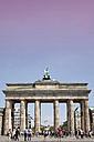 Germany, Berlin, view to Brandenburg Gate from Reichstag - WI000953