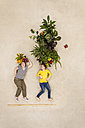 Children with plants growing from their heads - BAEF000733