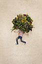 Boy with plants as head - BAEF000744