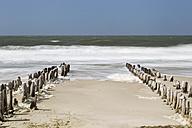 Germany, Schleswig-Holstein, Sylt, North Sea, breakwaters - SRF000785