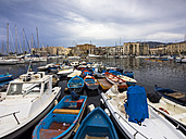Italy, Sicily, Palermo, fishing boats in harbor - AMF002748