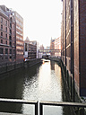 Warehouses in the historical Speicherstadt in Hamburg, Germany - MSF004175