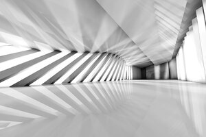 Futuristic empty room, 3D Rendering - SPCF000023