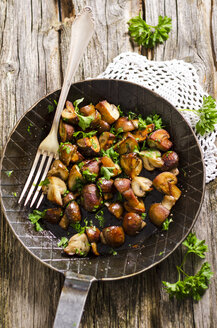 Frying pan with fried champignons - ODF000821